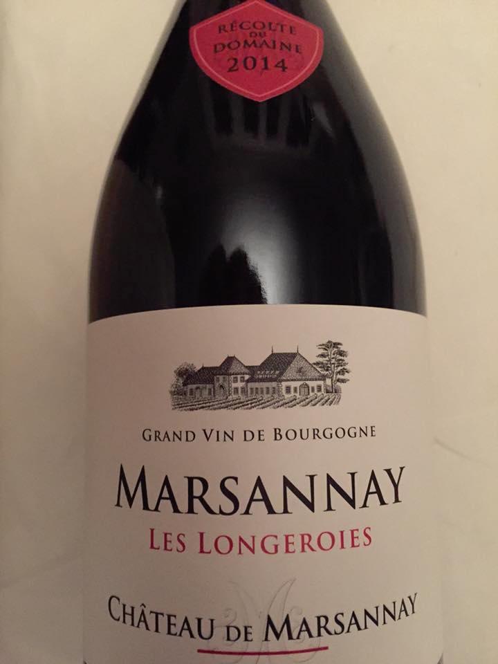 Château de Marsannay – Les Longeroies 2014 – Marsannay