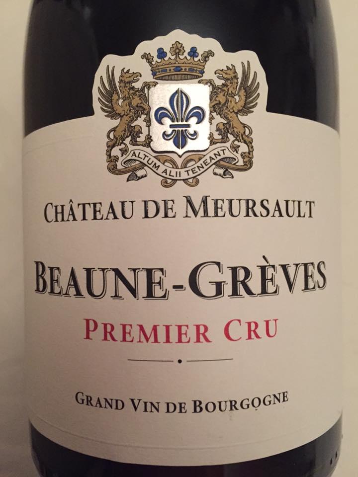 Château de Meursault 2014 – Beaune-Grèves – 1er Cru