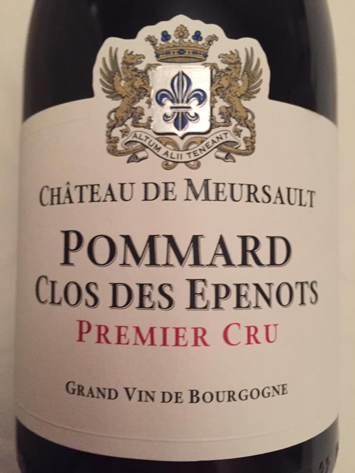 Château de Meursault – Clos des Epenots 2014 – Pommard – Premier Cru