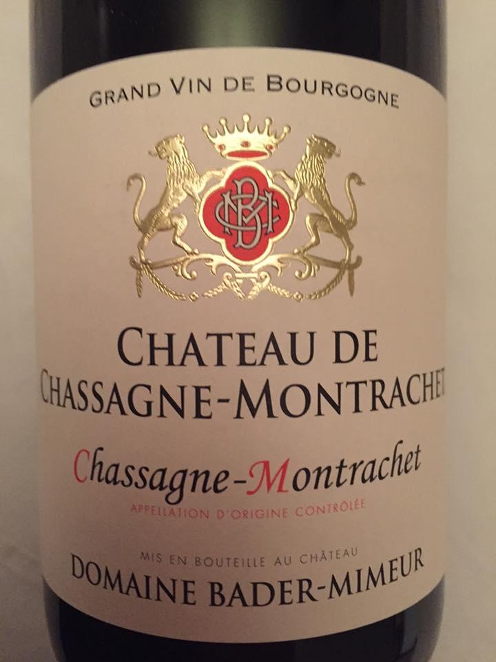 Château de Chassagne-Montrachet – Domaine Bader-Mimeur 2013 – Chassagne-Montrachet