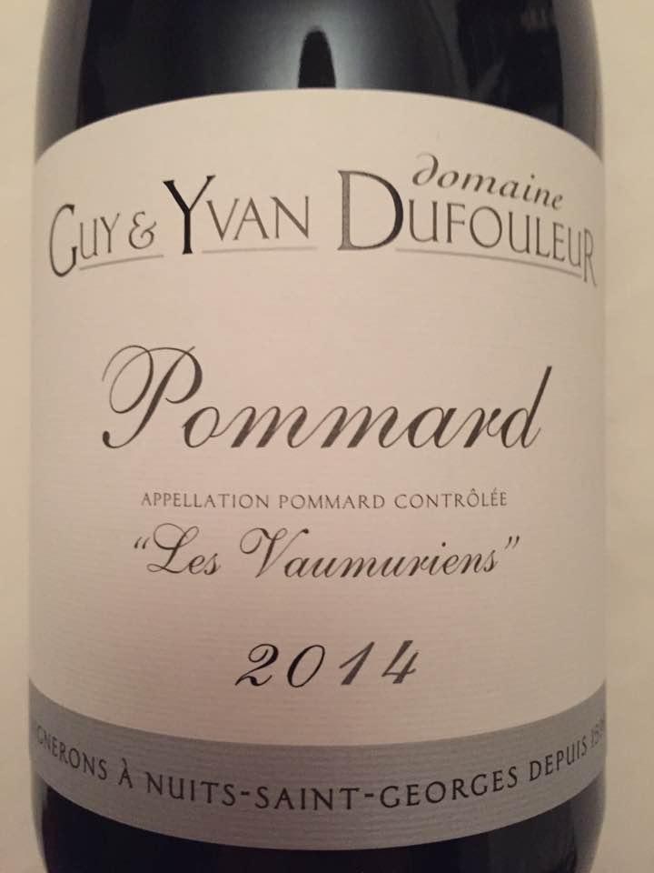 Domaine Guy & Yvan Dufouleur – Les Vaumuriens 2014 – Pommard