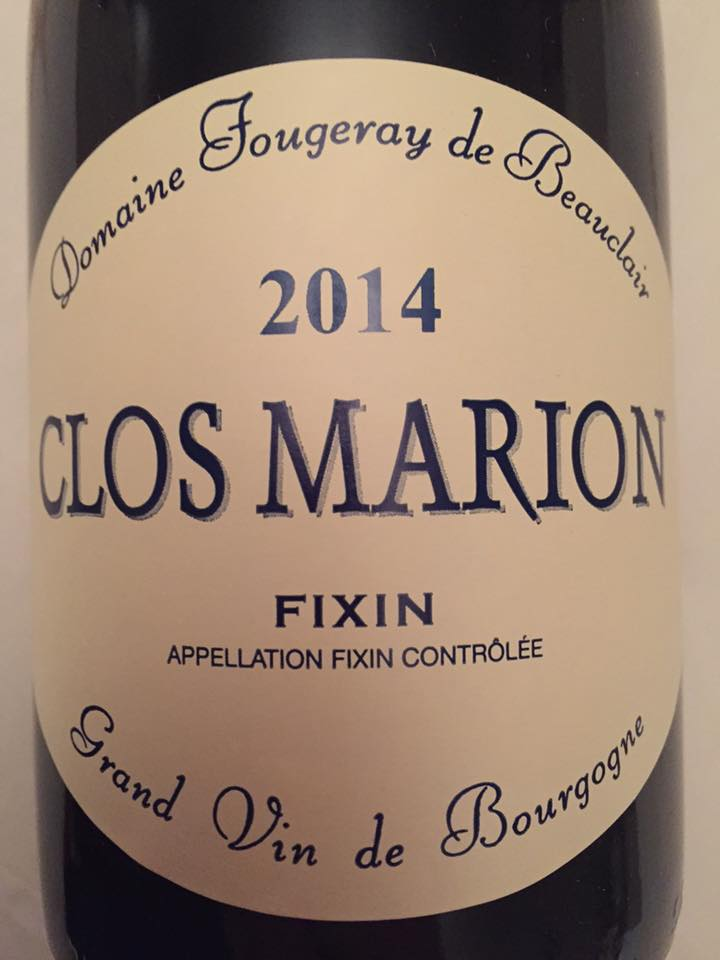 Domaine Fougeray de Beauclair – Clos Marion 2014 – Fixin