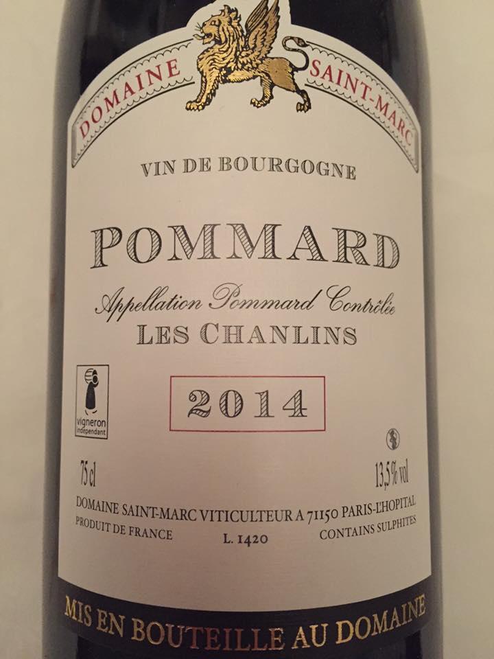 Domaine Saint-Marc – Les Chanlins 2014 – Pommard