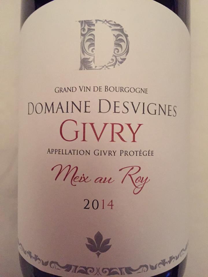 Domaine Desvignes – Meix au Roy 2014 – Givry