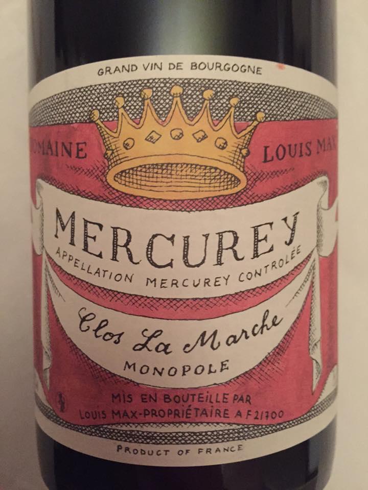 Domaine Louis Max – Clos La Marche 2015 Monopole – Mercurey