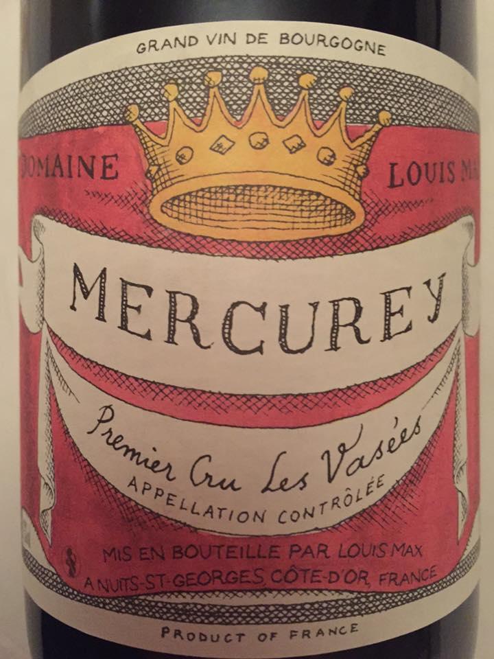 Domaine Louis Max – Les Vasées 2015 – Mercurey– Premier Cru