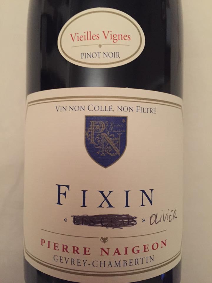 Pierre Naigeon – Olivier 2015 – Vieilles Vignes – Fixin