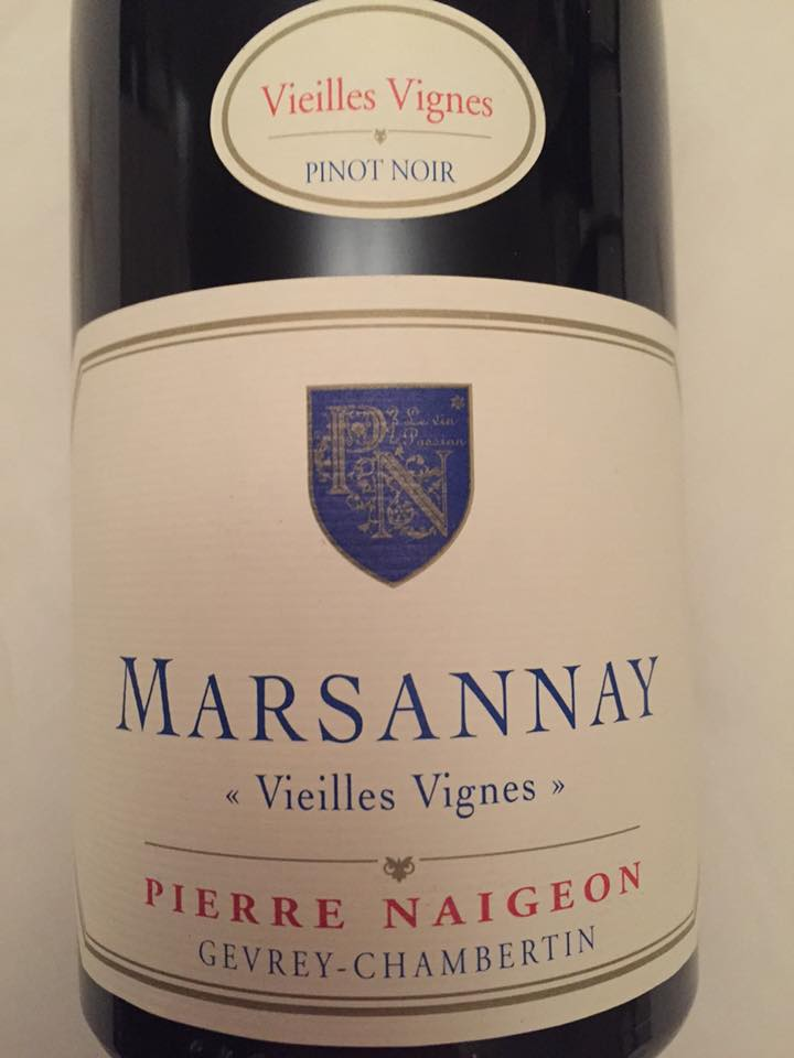 Pierre Naigeon – Vieilles Vignes 2015 – Marsannay