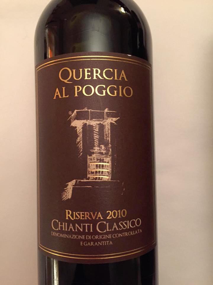 Quercia Al Poggio 2010 – Chianti Classico Riserva