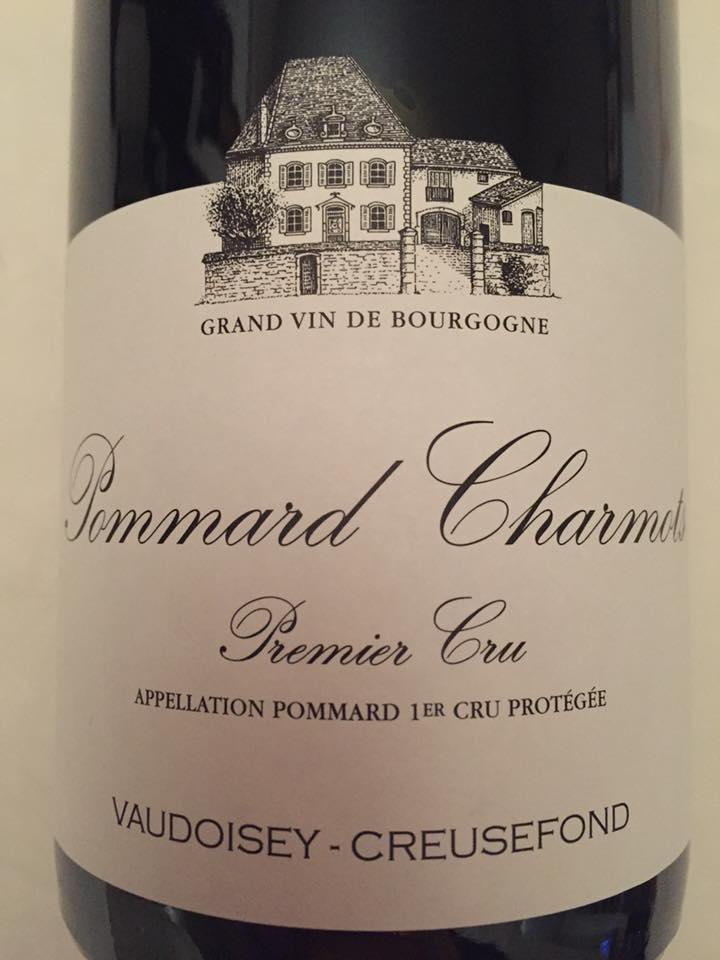 Vaudoisey-Creusefond – Charmots 2015 – Pommard – Premier Cru