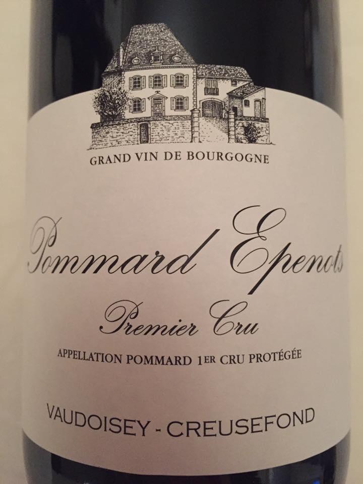 Vaudoisey-Creusefond – Epenots 2015 – Pommard – Premier Cru