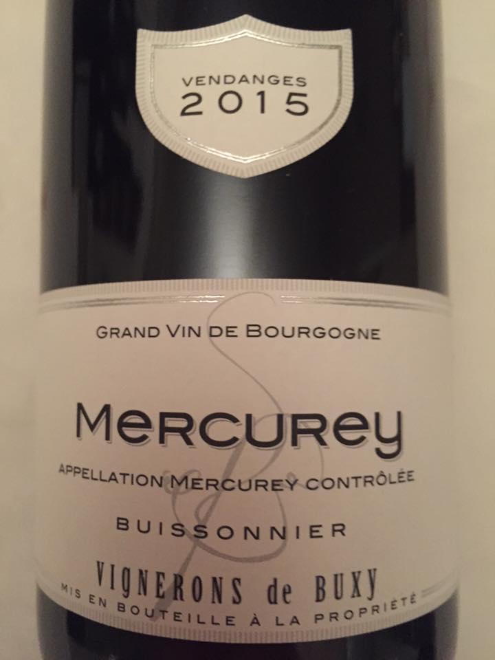 Vignerons de Buxy – Buissonnier 2015 – Mercurey