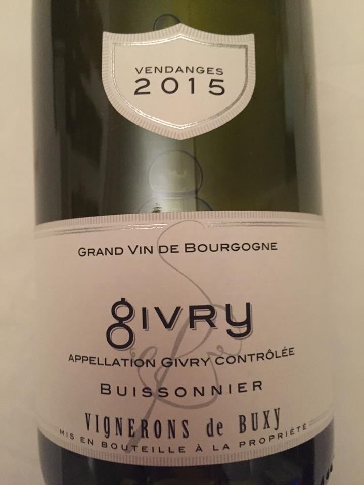 Vignerons de Buxy – Buissonnier 2015 – Givry