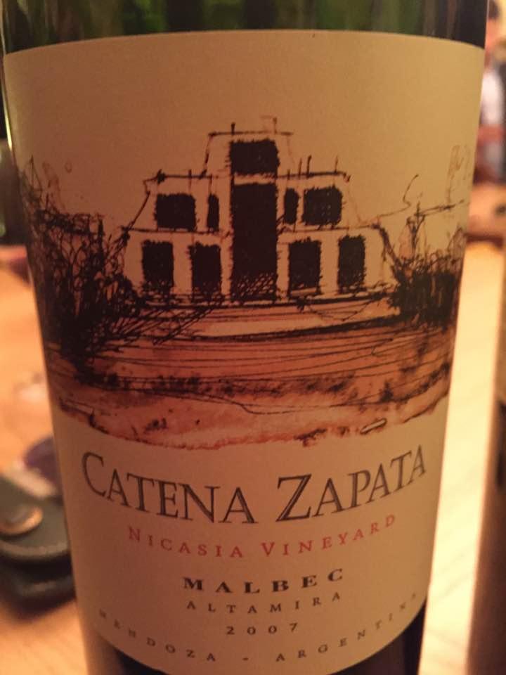 Catena Zapata – Nicasia Vineyard – Malbec 2007 – Altamira – Mendoza