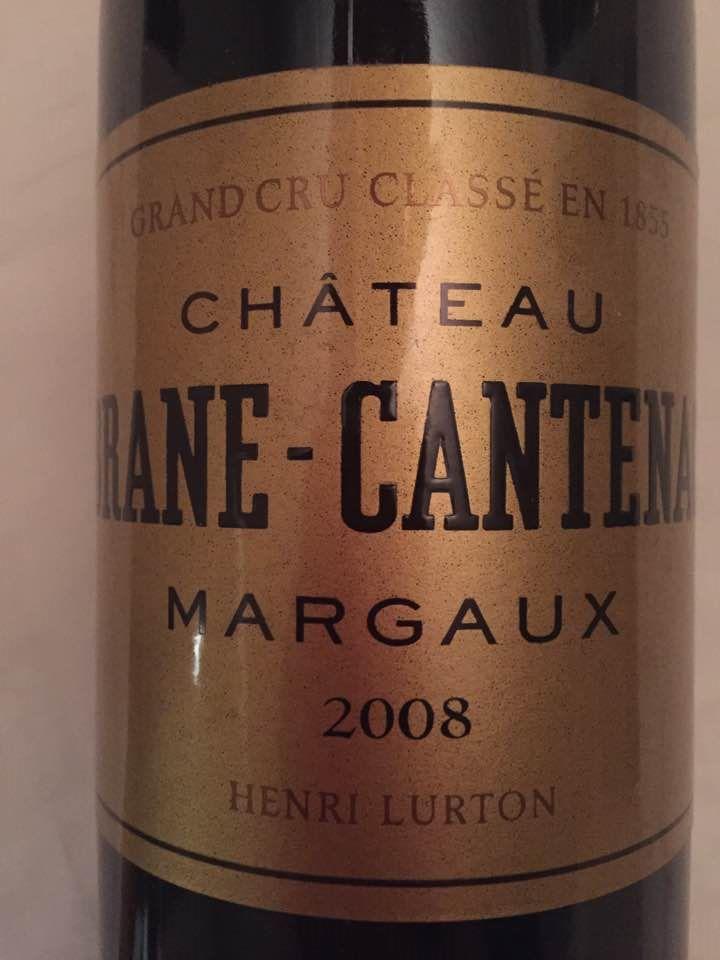 Château Brane-Cantenac 2008 – Margaux – Grand Cru Classé