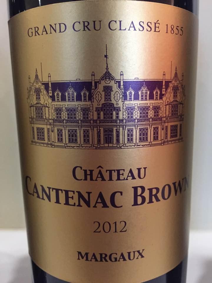 Château Cantenac Brown 2012 – Margaux, 3ème Grand Cru Classé