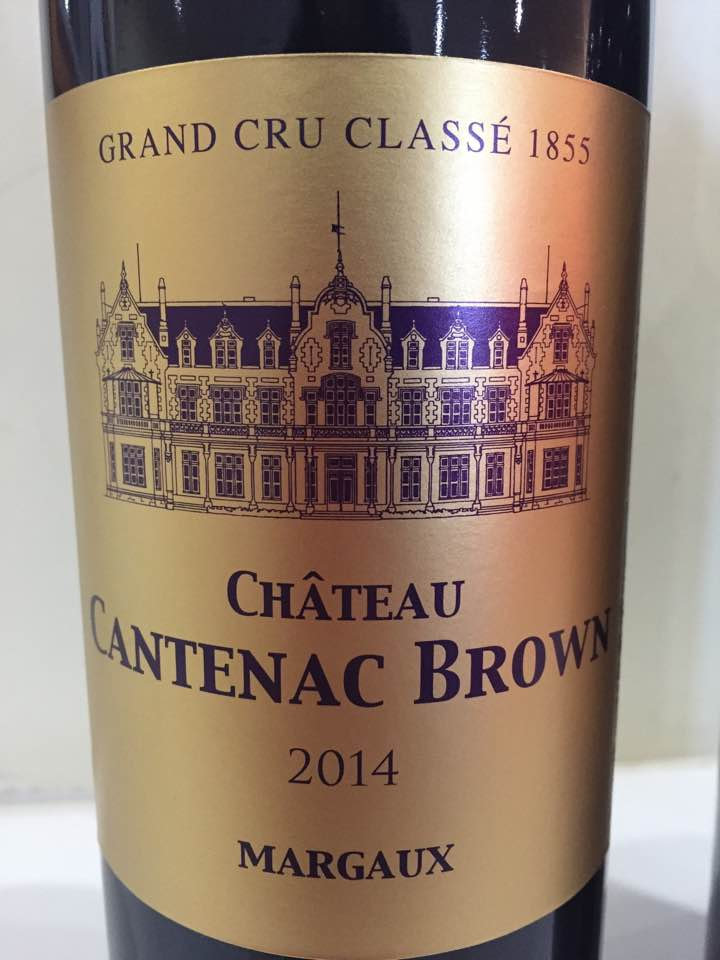 Château Cantenac Brown 2014 – Margaux, 3ème Grand Cru Classé