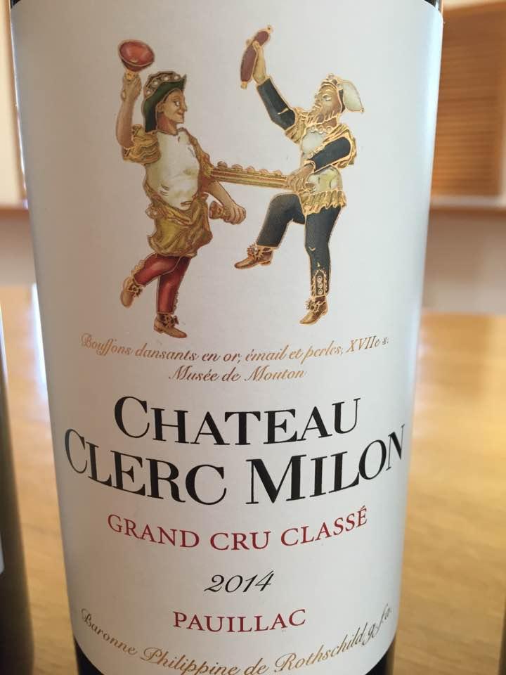Château Clerc Milon 2014 – 5ème Grand Cru Classé à Pauillac