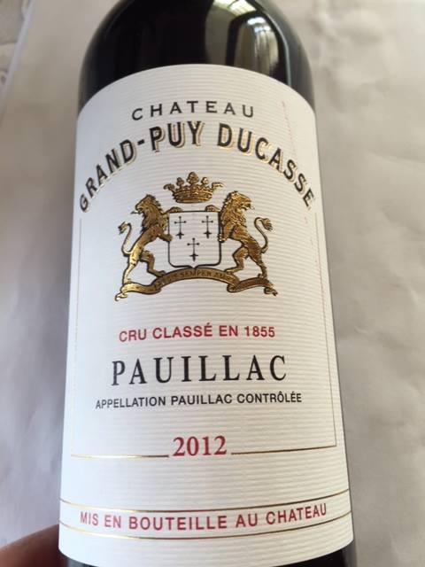 Château Grand-Puy Ducasse 2012 – Pauillac – Grand Cru Classé