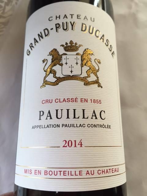 Château Grand-Puy Ducasse 2014 – Pauillac – Grand Cru Classé