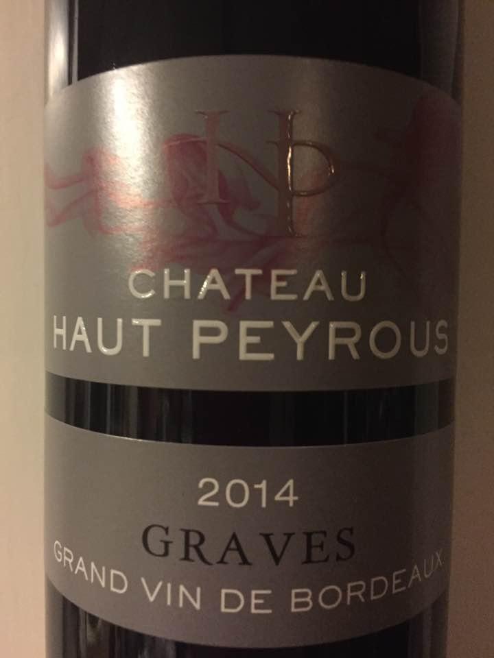 Château Haut Peyrous – L'Elégance 2014 – Graves C
