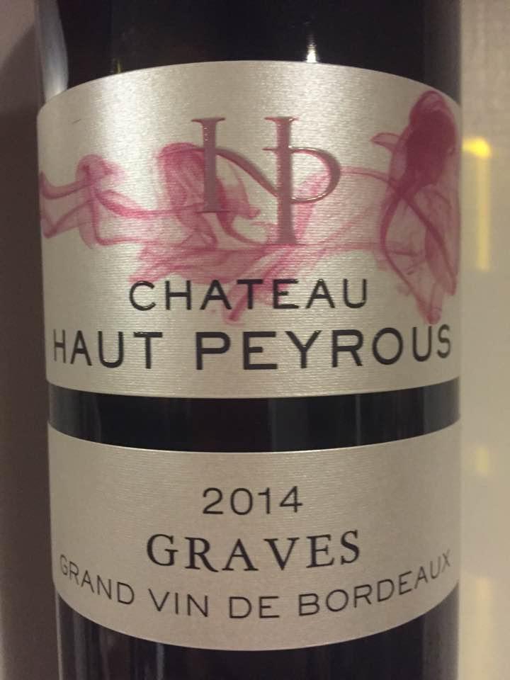 Château Haut Peyrous – L'Atypique 2014 – Graves