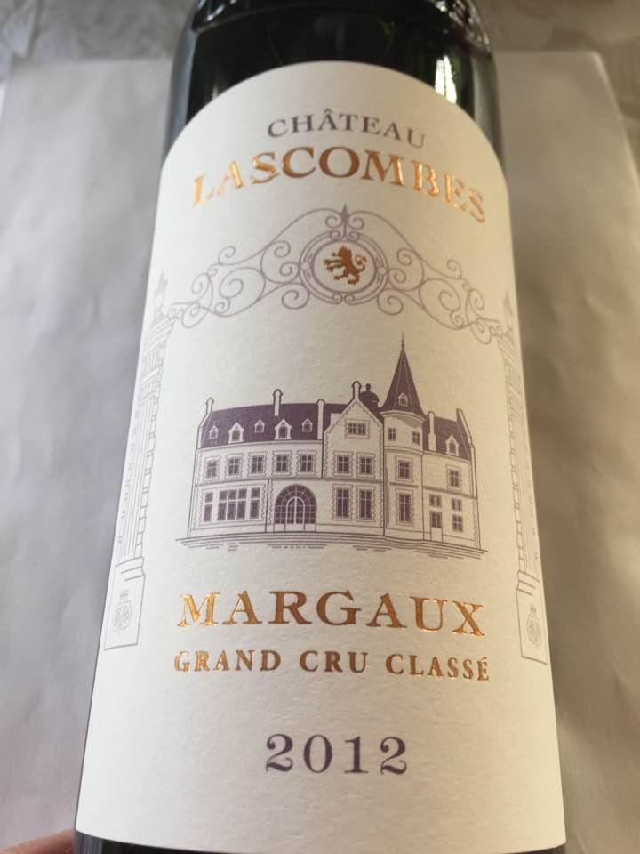 Château Lascombes 2012 – Margaux – Grand Cru Classé