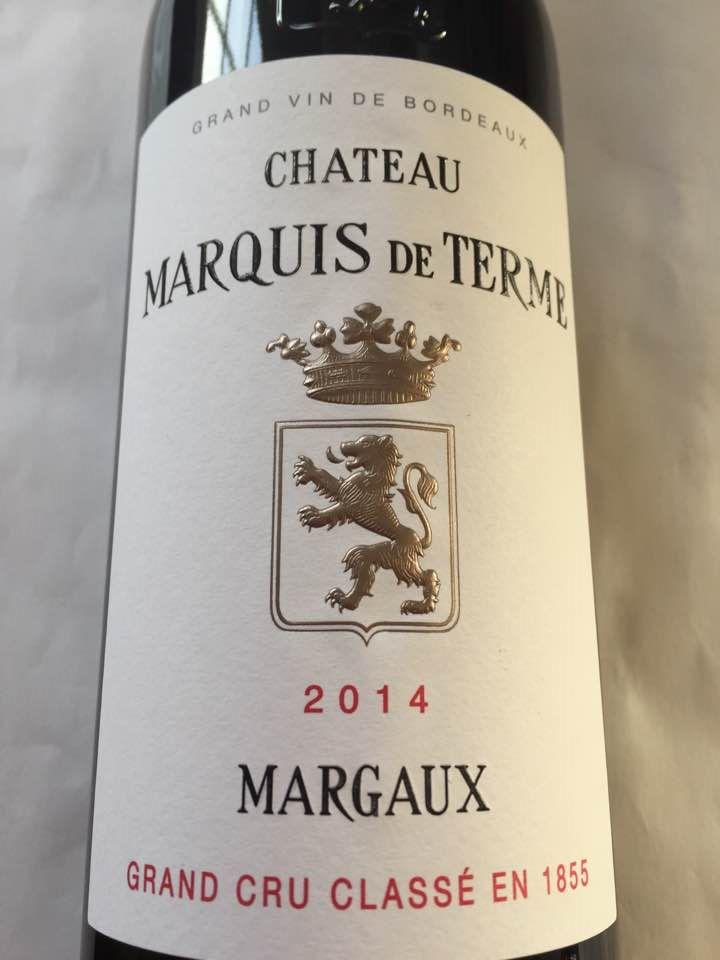 Château Marquis de Terme 2014 – Margaux – Grand Cru Classé
