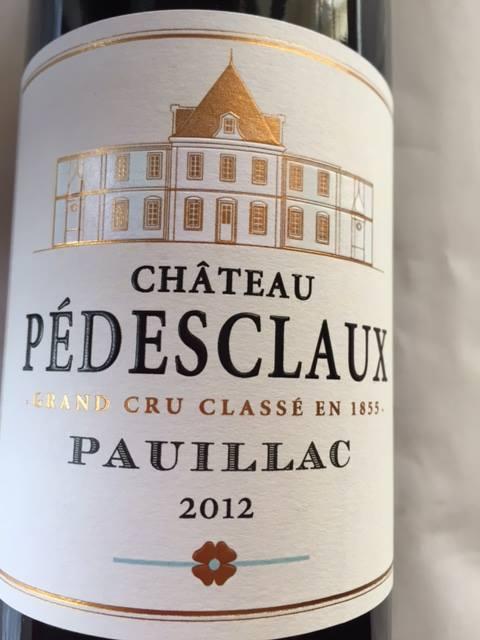 Château Pédesclaux 2012 – Pauillac – 5ème Grand Cru Classé