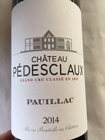 Château Pédesclaux 2014 – Pauillac – Grand Cru Classé
