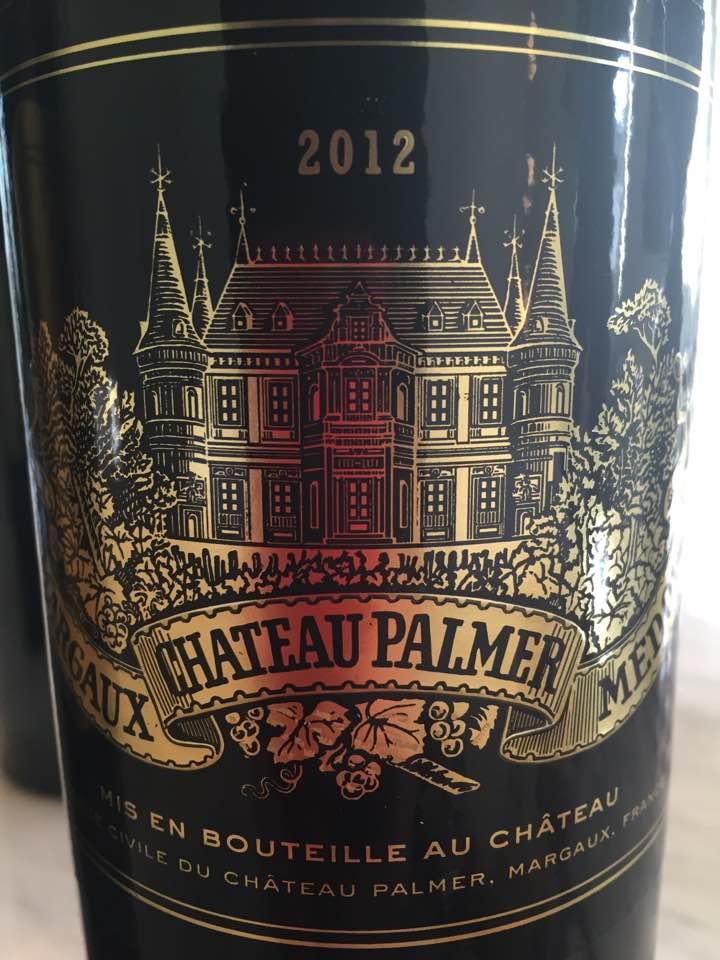 Château Palmer 2012 – Margaux, 3ème Grand Cru Classé