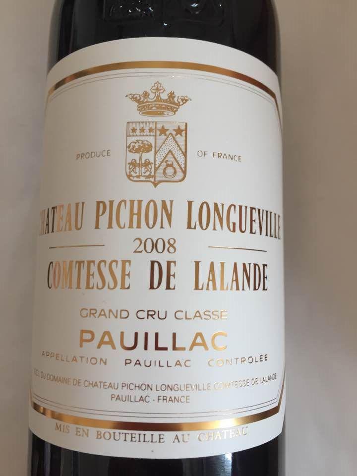 Château Pichon Longueville Comtesse de Lalande 2008 – Pauillac – Grand Cru Classé