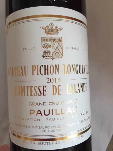 Château Pichon Longueville Comtesse de Lalande 2014 – Pauillac – Grand Cru Classé
