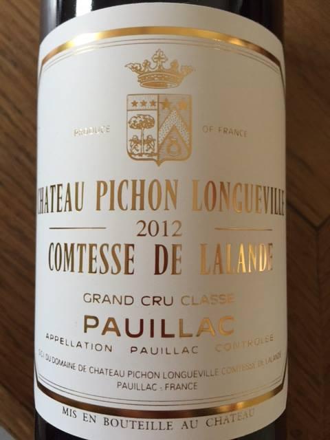 Château Pichon Longueville de Lalande 2012 – Pauillac – Grand Cru Classé