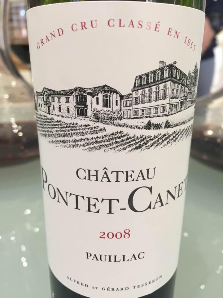 Château Pontet Canet 2008 – Pauillac, 5ème Grand Cru Classé