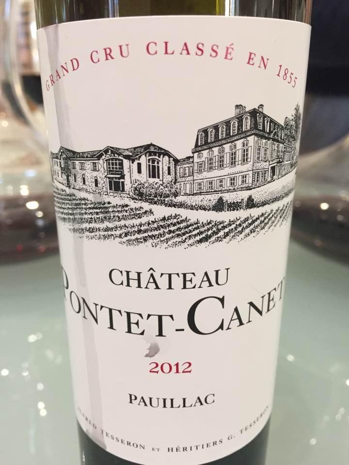 Château Pontet Canet 2012 – Pauillac, 5ème Grand Cru Classé