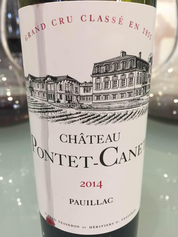 Château Pontet Canet 2014 – Pauillac, 5ème Grand Cru Classé