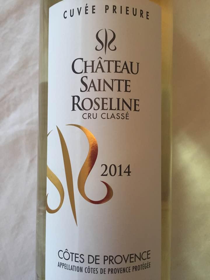 Château Sainte Roseline – Cuvée Prieuré 2014 – Côtes de Provence – Cru Classé