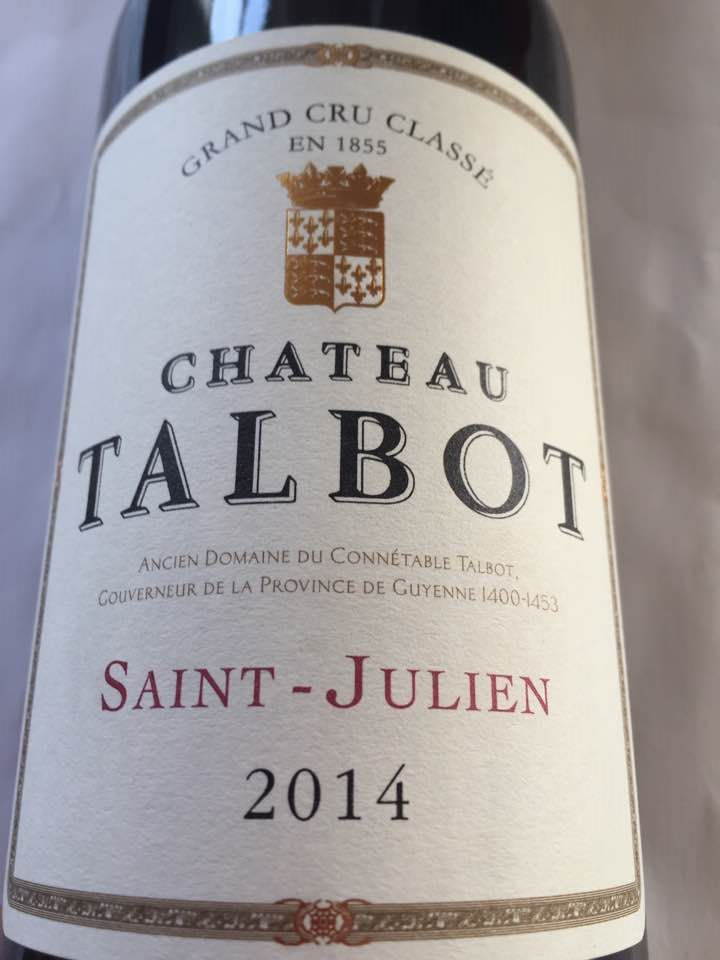 Château Talbot 2014 – Saint-Julien – Grand Cru Classé