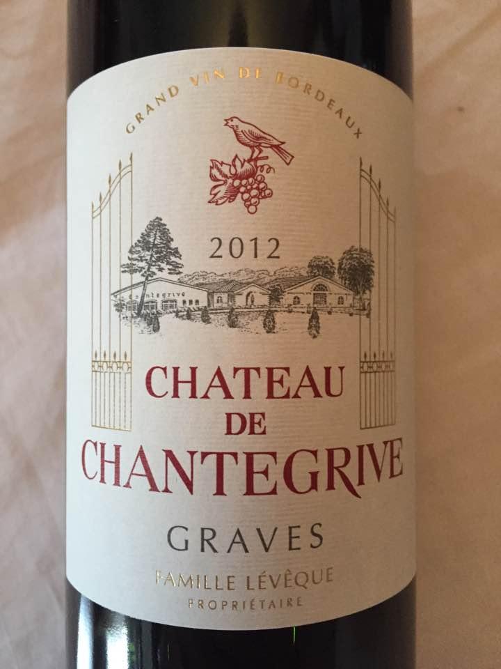Château de Chantegrive 2012 – Graves