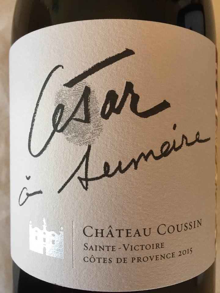 Château Coussin – César à Sumeire 2015 – Côtes de Provence Sainte-Victoire
