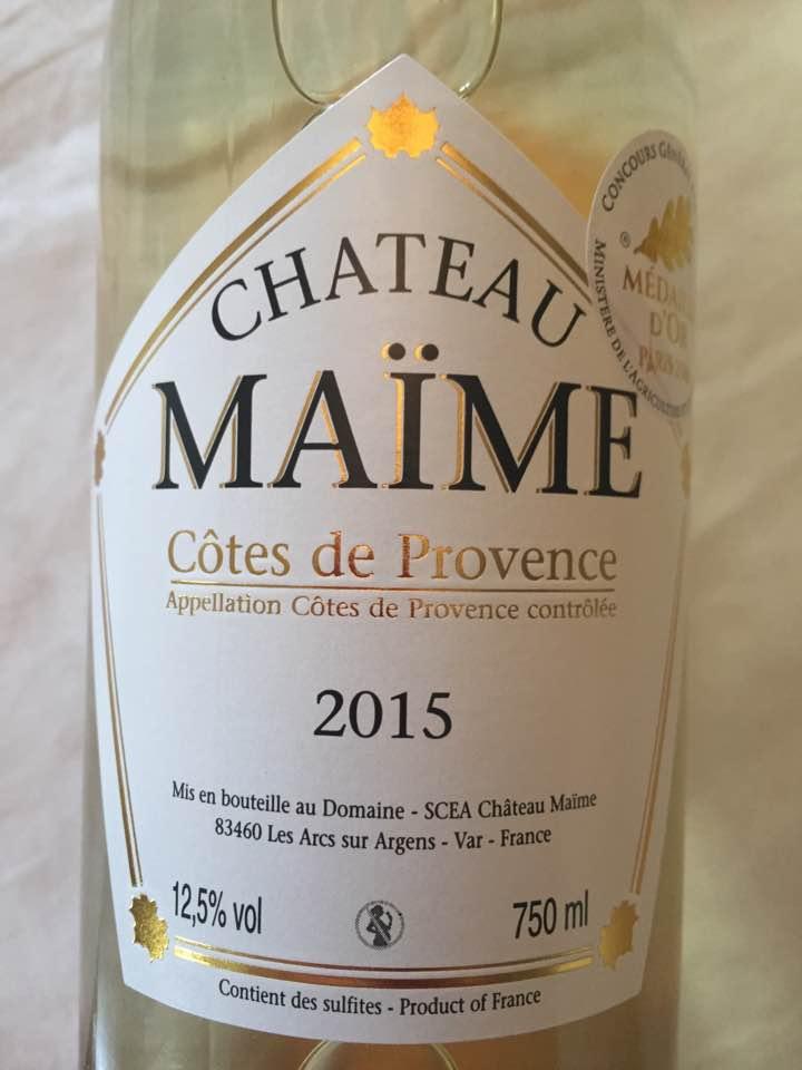 Château Maïme 2015 – Côtes de Provence