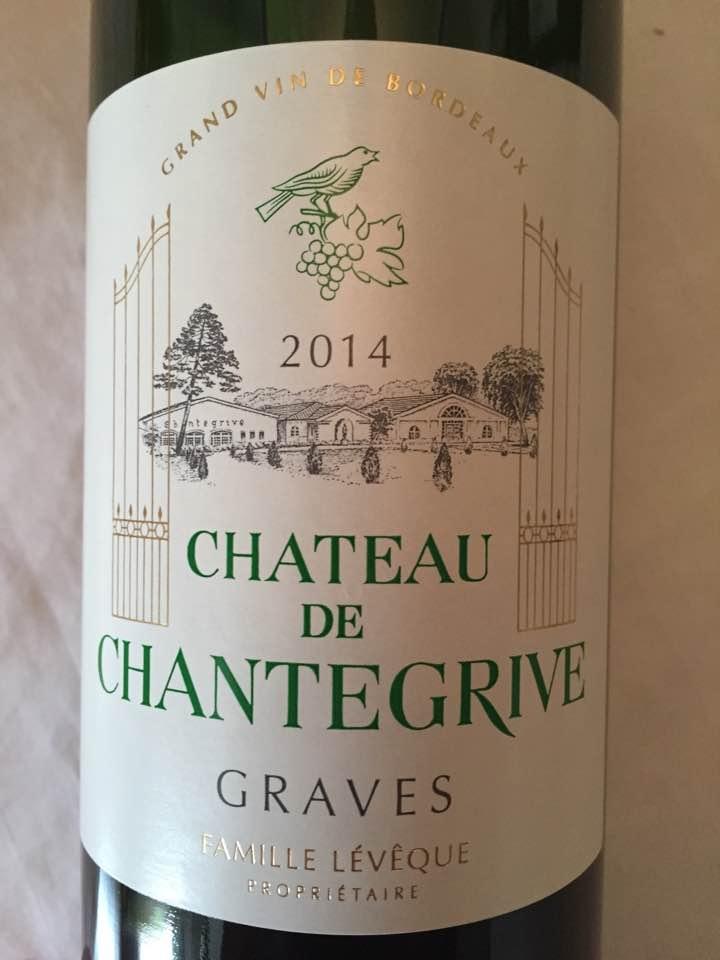 Château de Chantegrive 2014 – Graves