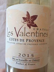 Château les Valentines 2015 – Côtes de Provence