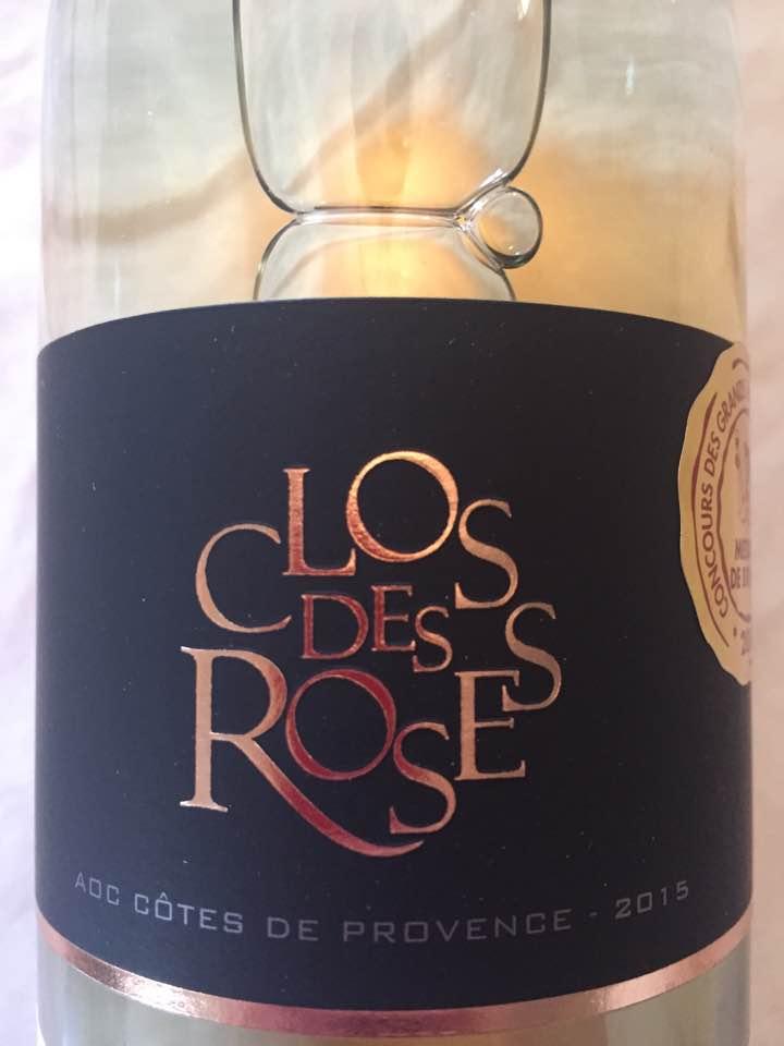 Clos des Roses 2015 – Côtes de Provence