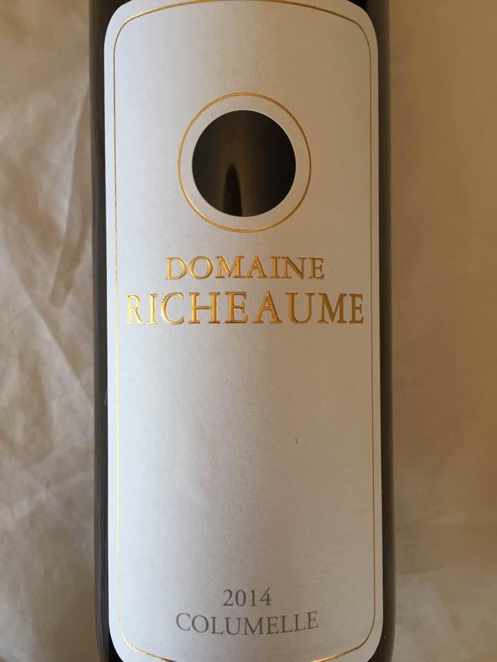 Domaine Richeaume – Columelle 2014 – IGP Méditerranée