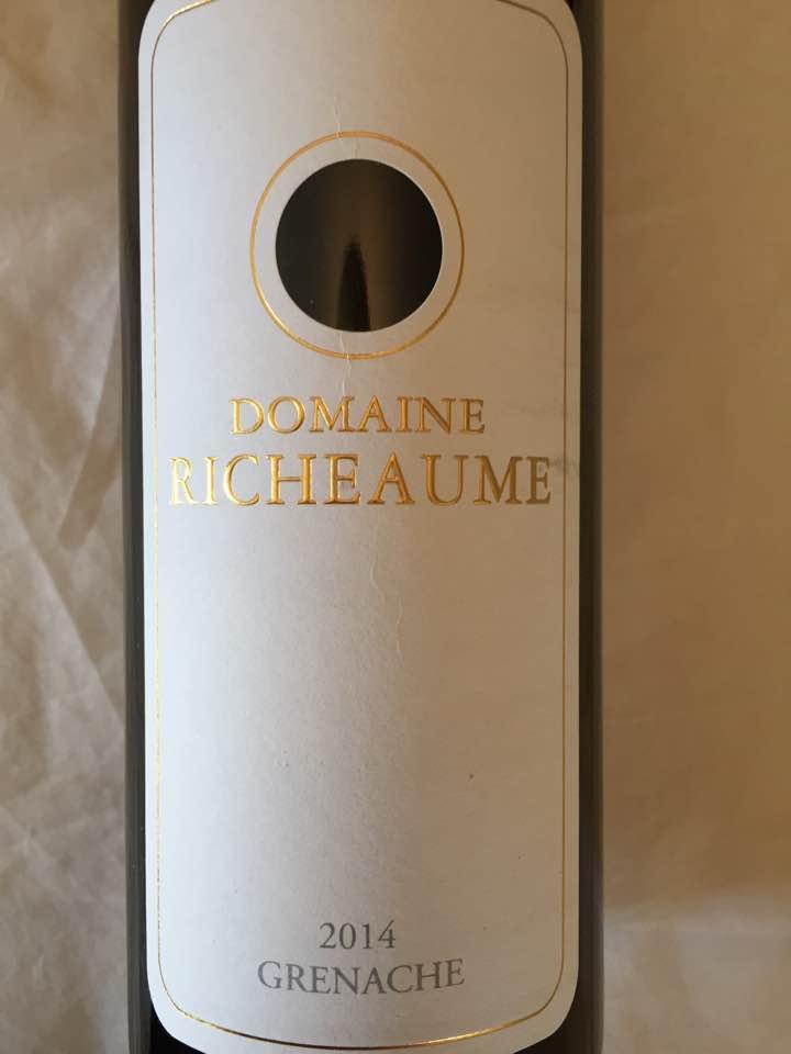 Domaine Richeaume – Grenache 2014 – IGP Méditerranée