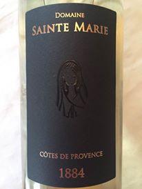 Domaine Sainte Marie – Cuvée 1884 millésime 2015 – Côtes de Provence