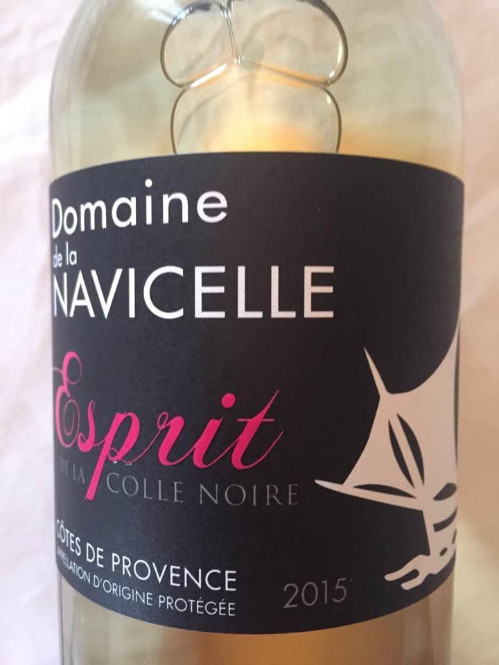 Domaine de la Navicelle – Esprit de la Colle Noire 2015 – Côtes de Provence