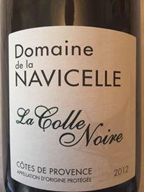 Domaine de la Navicelle – La Colle Noire 2012 – Côtes de Provence